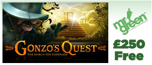 £250 Free + 10 Free Spins to play Gonzo's Quest