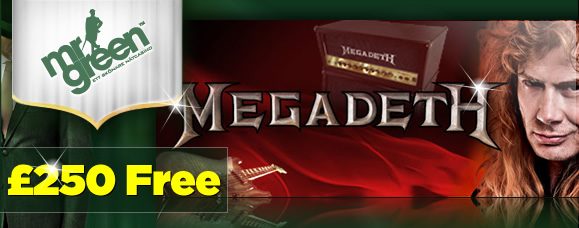 Signed MegaDeth Guitar at Mr Green Casino